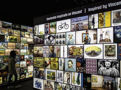 Vista de la exposición interactiva de Van Gogh.