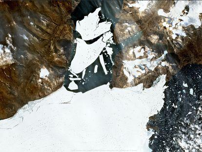 El pasado septiembre, un iceberg de cerca de 110 kilómetros cuadrados se desgajó del área 79N, al noreste de Groenlandia.
