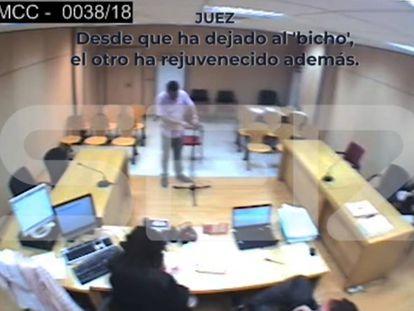 En vídeo, la sala de vistas donde se produce la charla del magistrado Martínez.