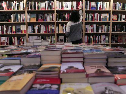 La librería Cervantes y Compañía, en el número 27 de la calle del Pez, el pasado día 21 de enero.