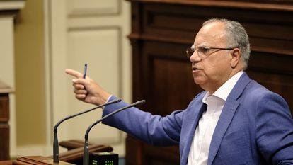 El portavoz del Grupo Parlamentario Agrupación Socialista Gomera (ASG), Casimiro Curbelo  ASG 26/06/2020