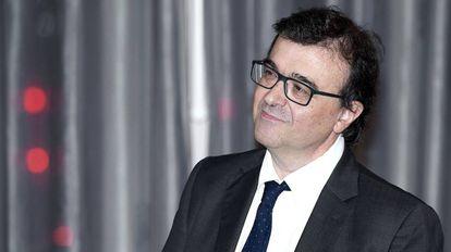 Javier Cercas durante la ceremonia de entrega del Premio Francisco Cerecedo, este jueves en Madrid.