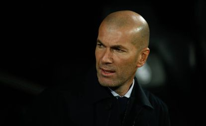 Zidane, en el Real Madrid-Athletic.