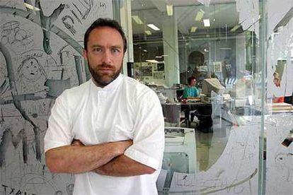 Jimmy Wales, fundador de  Wikipedia, en una imagen de 2005.
