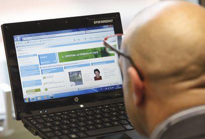 La web dispone de un sencillo diseño para facilitar el acceso de los ciudadanos.