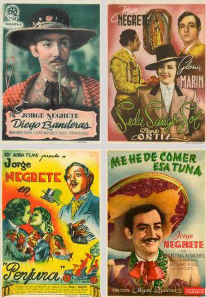 Programas de mano de películas protagonizadas por Jorge Negrete.
