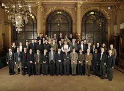 Participantes en la Conferencia Solvay, celebrada en Bruselas.