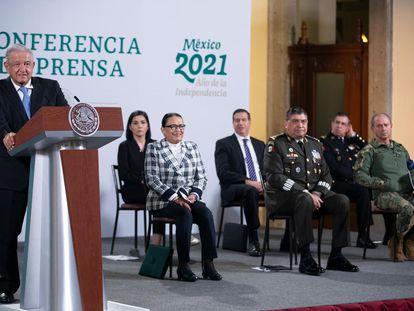 Conferencia matutina del presidente de México, Andrés Manuel López Obrador, este miércoles.