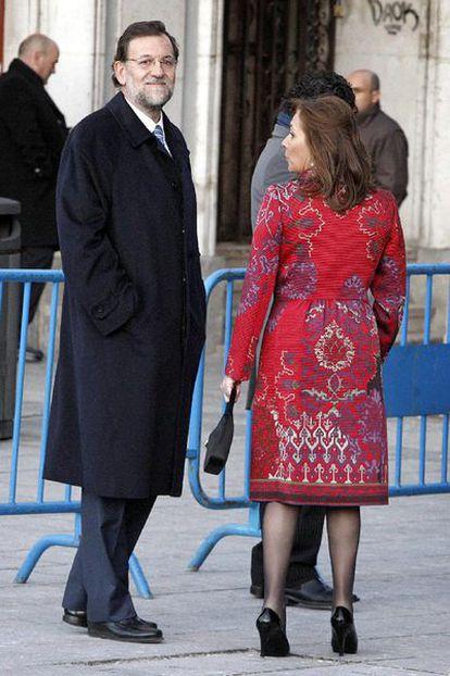 El líder del PP, Mariano Rajoy, y su esposa, Elvira Fernández.