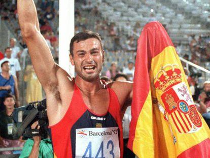 Antonio Peñalver en los Juegos de Barcelona 1992.