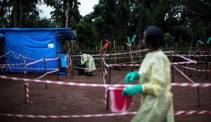Unidad de cuarentena contra el ébola, en una imagen de 2017.