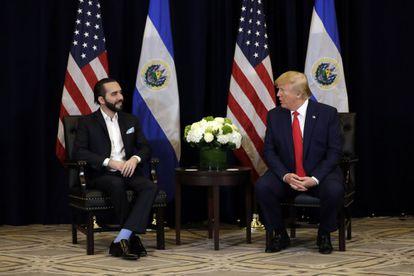 Bukele y Trump en un encuentro en Nueva York en septiembre de 2019.