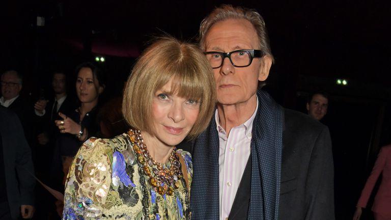 Anna Wintour y Bill Nighy, en París el pasado enero.