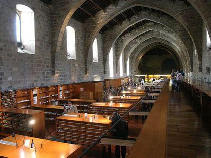 Aspecto de una de las salas de la Biblioteca de Catalunya.