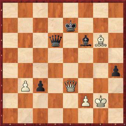 Ante el jaque en e3, todas las defensas de Carlsen eran buenas excepto la que hizo: 89 ...Rf8? 90 De8+ Rg7 91 Df7+ Rh6 92 Dh7+ Rg5 93 Dh5+, y Carlsen abandonó porque era mate