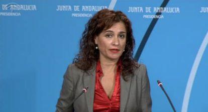 María Jesús Montero, este martes tras el Consejo de Gobierno.