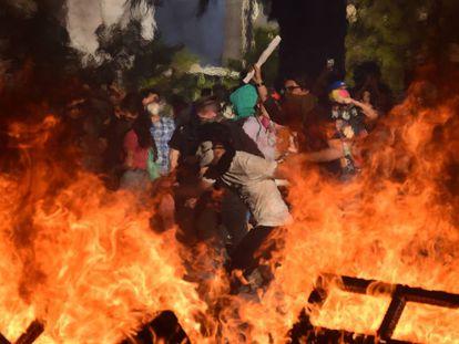 Imagen de las protestas en Santiago de Chile, el 28 de noviembre.