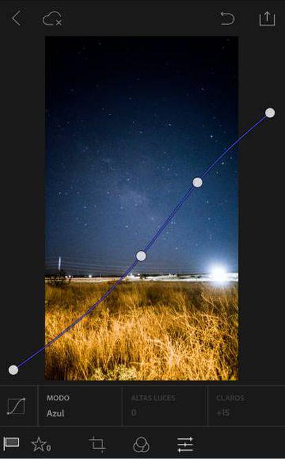 Fotografía editada con Ligthroom Mobile, una aplicación móvil.