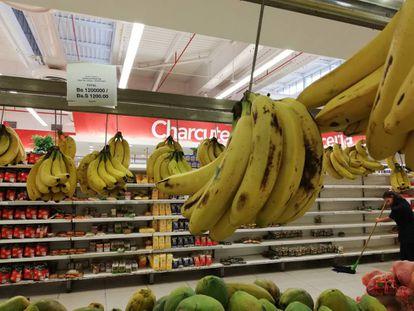 Un kilo de cambures (plátanos) se vende en 1.200.000 bolívares.