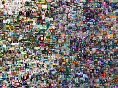 'Everydays: The First 5000 Days ('Todos los días: los primeros 5.000 días'), el collage de 5.000 imágenes de Beeple.