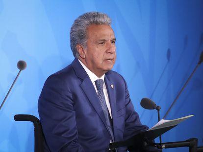 El presidente de Ecuador, Lenín Moreno, durante una cumbre de la ONU, en 2019.