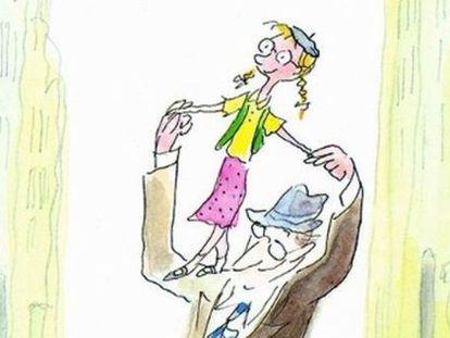 Dibujo de Sempé para 'Catherine', la novela infantil de Patrick Modiano.