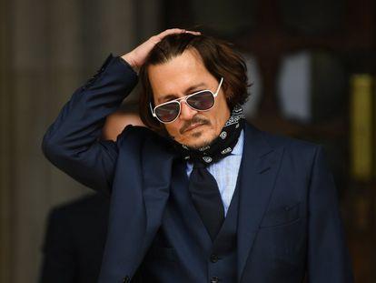 La estrella de Hollywood Johnny Depp, en Londres en julio.