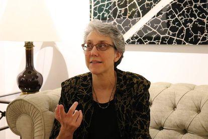 La profesora Susan Kopp durante su visita a Madrid