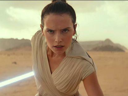 Daisy Ridley, que encarna a Rey, en el tráiler de 'Star Wars IX: The Rise of Skywalker'.