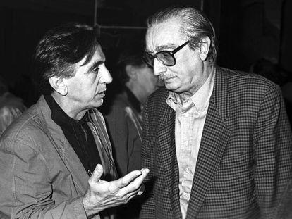 Andreu Álfaro, a la izquierda, y Joan Fuster.