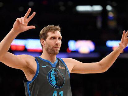 Nowitzki, en un reciente Knicks-Mavericks.
