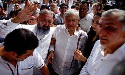 López Obrador durante una visita a Tabasco, en diciembre de 2018.