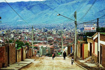 Los cerros de Cochabamba (Bolivia).