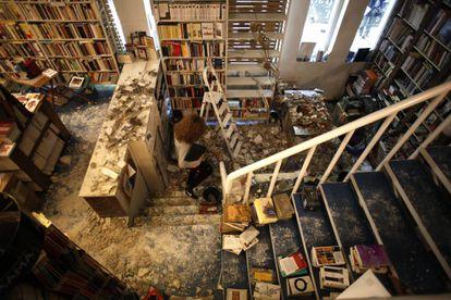 Inundación en la librería Alberti