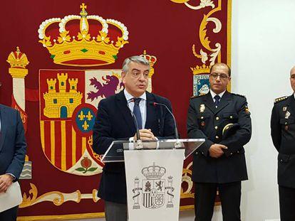 El delegado del Gobierno en el País Vasco, Javier de Andrés, en una comparecencia hoy en San Sebastián.
