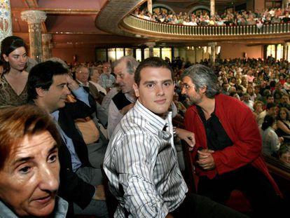 Albert Rivera, en un acto electoral en el Palau de la Música, en 2006.