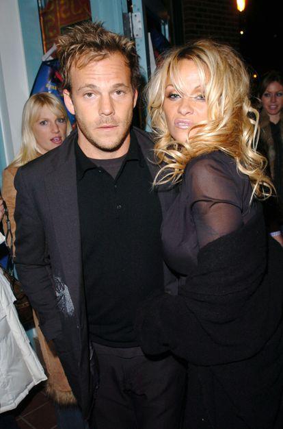 Stephen Dorff y Pamela Anderson en el Festival de Sundance en 2005.