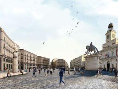 La propuesta, de los arquitectos Ricardo Sánchez e Ignacio Linazasoro, pretende ordenar la plaza madrileña y será retocada por ambos autores en colaboración con los técnicos municipales
