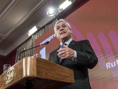 El presidente chileno, Sebastián Piñera, presenta la Ruta Energética.