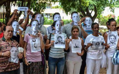 Disidentes protestan en La Habana por el cambio de política de EE UU