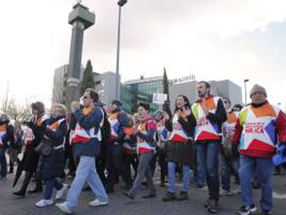 Trabajadores de Telemadrid despedidos en un ERE en 2013. EFE/Archivo