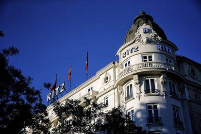 Fachada del hotel Ritz de Madrid, en una imagen de archivo.