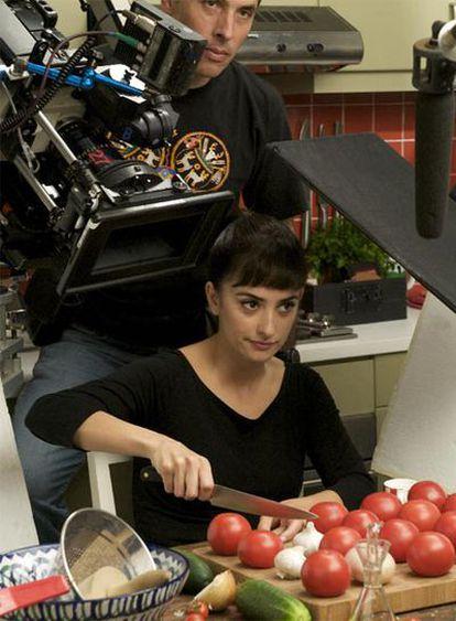 Penélope Cruz, en el rodaje de una escena de la película.