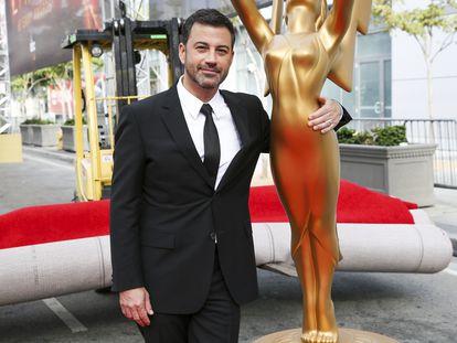 Jimmy Kimmel, en los preparativos de los premios Emmy de 2016.