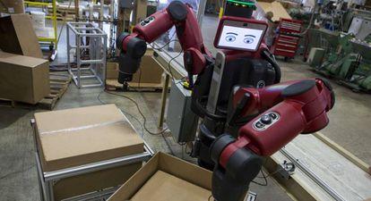 Uno de los robots que trabajan para la factoria de juguetes K'nex.