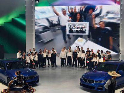 La inauguración de la fábrica de BMW en San Luis Potosí, México.