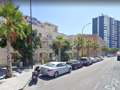 Paseo de la Farola de Málaga donde Google instalará un centro de excelencia para la ciberseguridad.