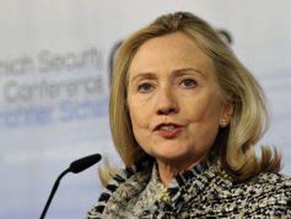La secretaria de Estado Hillary Clinton en Múnich.