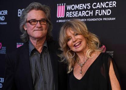 Kurt Russell y Goldie Hawn en California en 2019.