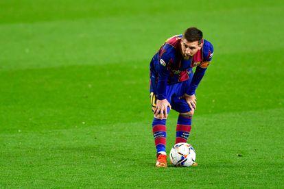 Lionel Messi, durante un partido de esta temporada.